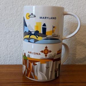 Starbucks Retired You Are Here Arizona + Maryland